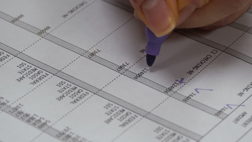 Payroll Tax Sheet Voided by Payroll Clerk | Shutterstock HD Video #9749777