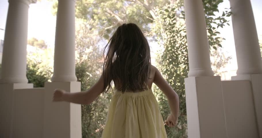... Rearview of a little girl running happily towards an open front door with vintage feel ... & Wooden Door Free Video Clips - (226 Free Downloads)