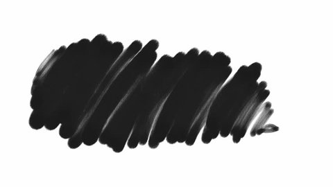 Motion Design Elements black paint brush strokes, isolated with alpha matte, Use as revealers, masks, mattes, textures, blends, transitions (full Hd, 1920x1080, ready for compositing)