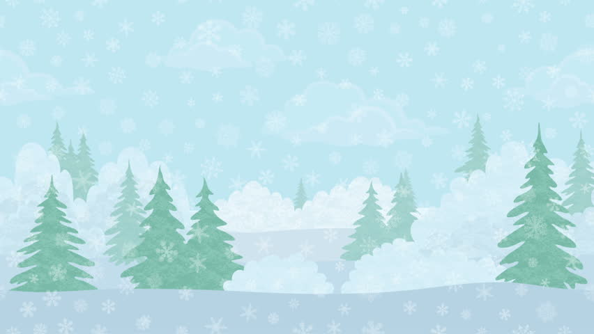 stock video of an animated snowy forest background with 13401770 rh shutterstock com snow scene background clipart snow falling background clipart