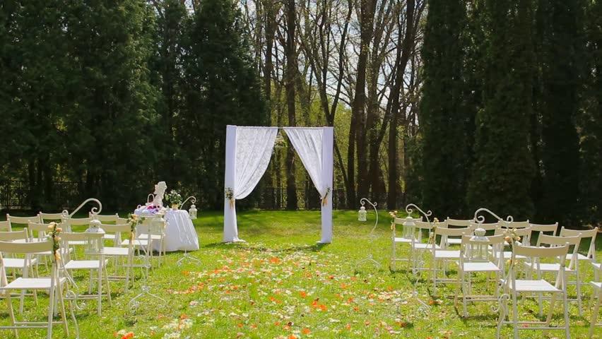 Wedding set up in garden park outside wedding ceremony wedding set up in garden park outside wedding ceremony celebration wedding aisle junglespirit Choice Image