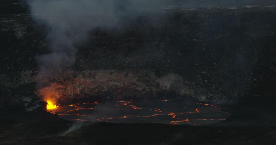 Exploding Volcanic Lava In Caldera, Kilauea, Hawaii