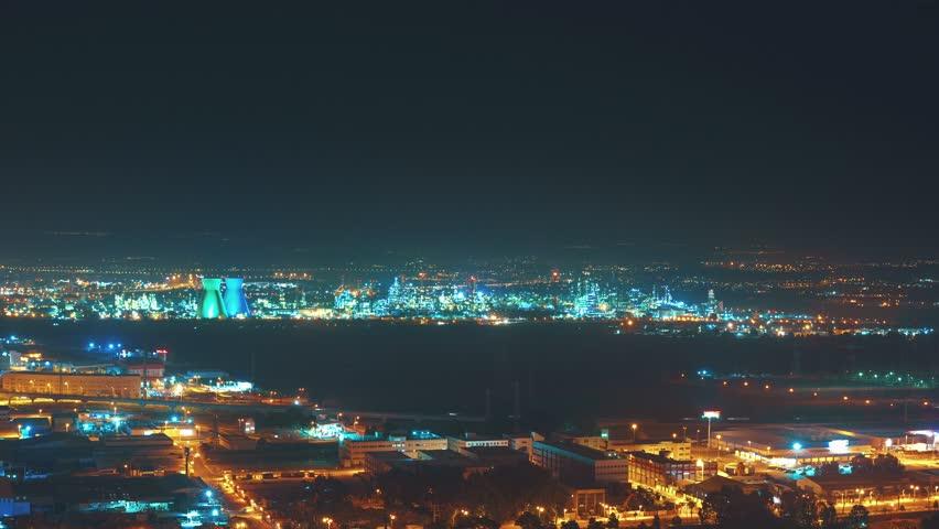 Haifa, Israel Night Panorama 4K Timelapse | Shutterstock HD Video #9967217