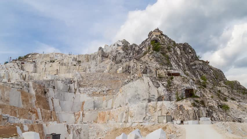 Marble quarry time lapse