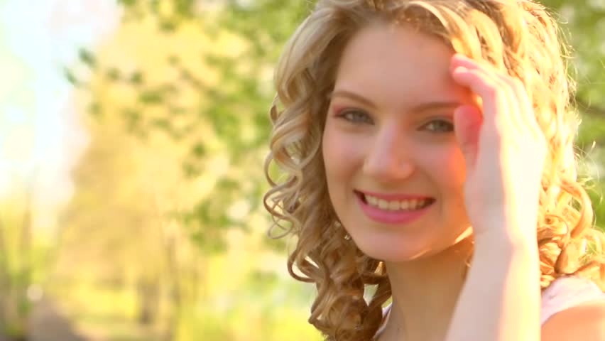 Beauty Happy Smiling Teenage Girl Stock Footage Video 100 Royalty-Free 9975767 -5519