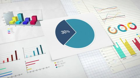 Circle diagram for presentation, Pie chart indicated 10-90 percent, and various graphic diagram. version 2