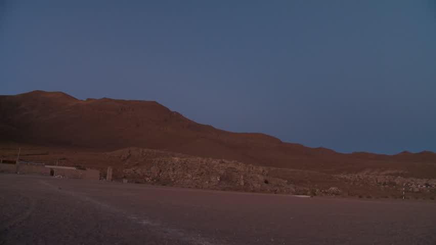 Video footage of a landscape on the Altiplano in the Andes of Bolivia in the early morning #9980687