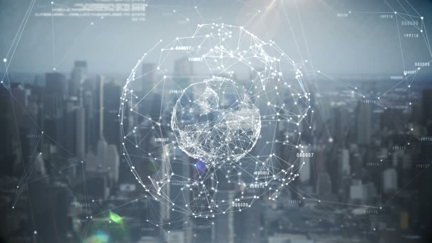 Digital animation of Global business hologram | Shutterstock HD Video #9982838