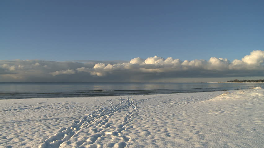Snow Covered Beach Stock Footage Video 100 Royalty Free 998497 Shutterstock