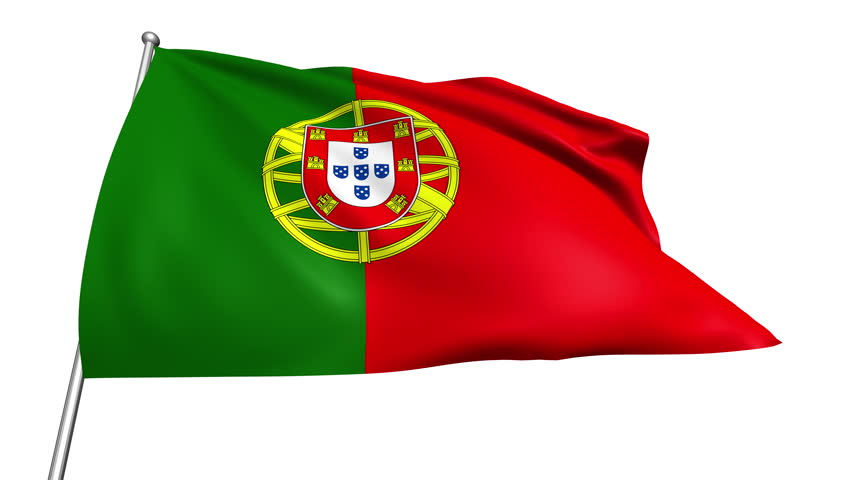 Portugal Map Flag Rotating On Black Animation Stock Footage Video - Portugal map flag